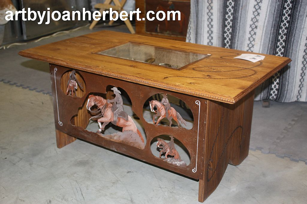 Custom Display Coffee Table.  With custom side panels and display box.